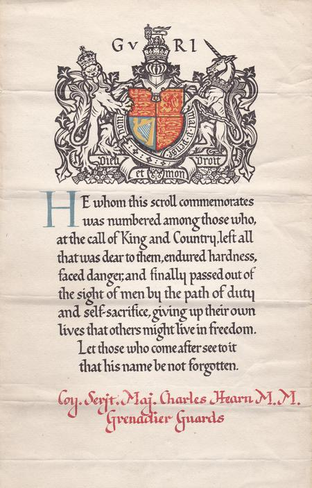 Commemoration  Scroll