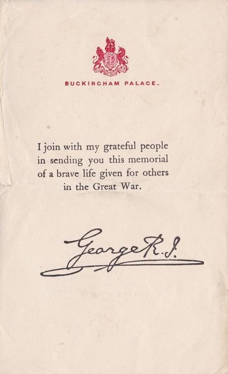 King's letter