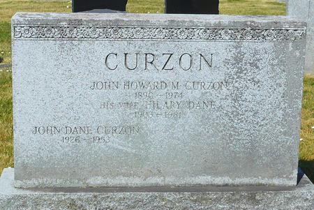 John Howard Curzon grave