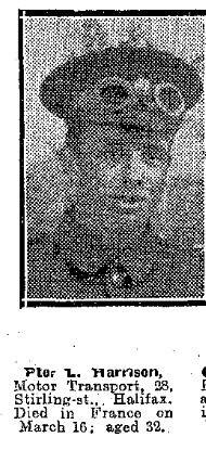 Obituary photo in local paper