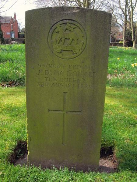 CWGC Grave at St. Matthew's Hospital Burial Ground