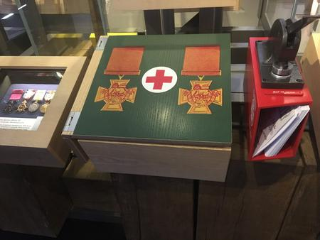 Chavasse's medal case in Lord Ashcroft Gallery