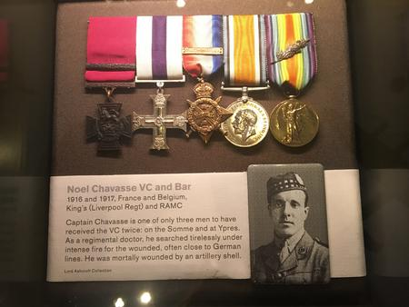 Display case and medals - IWM London