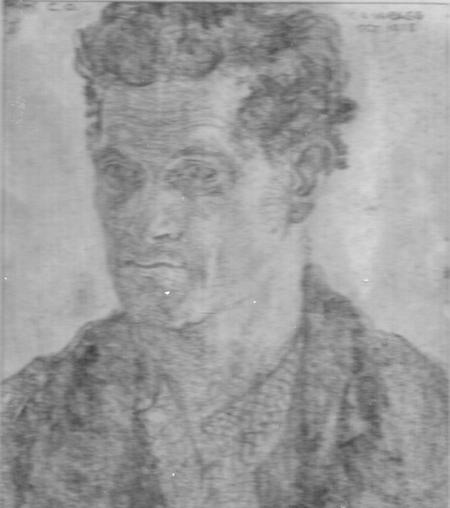 Charcoal sketch of Daniel Oliver Harris 1882-1922