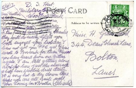 Postcard from Charles Greenwood 5 June 1917