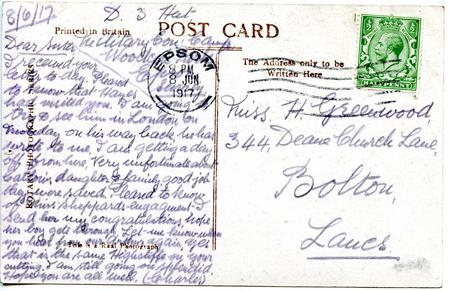Postcard from Charles Greenwood dated 8 June 1917