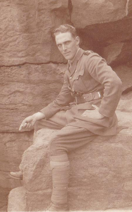 Contemplative photograph of Rev Cowl in abt. 1917