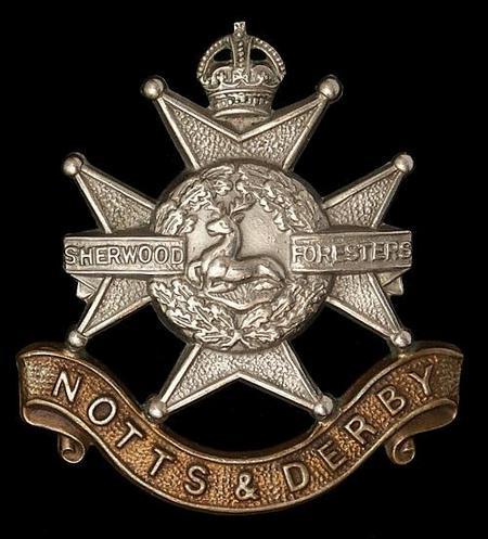 Nottingham and Derbyshire Regiment Cap Badge