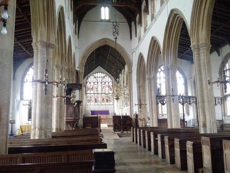 Interior of Walpole St Peter parish church