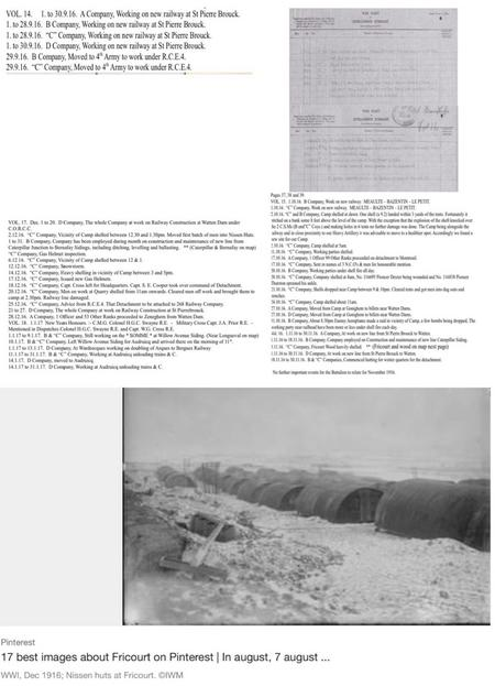 WO-95-4059-1 War Diary. Copy of Somme service