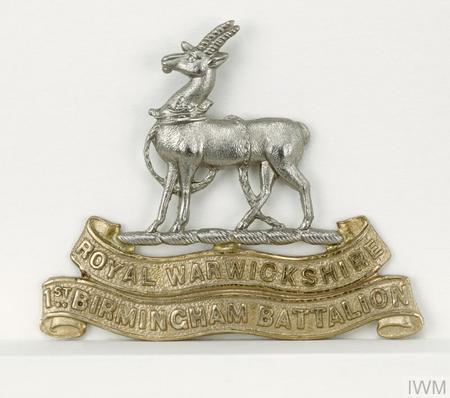 Ist Birmingham Battalion  headdress badge
