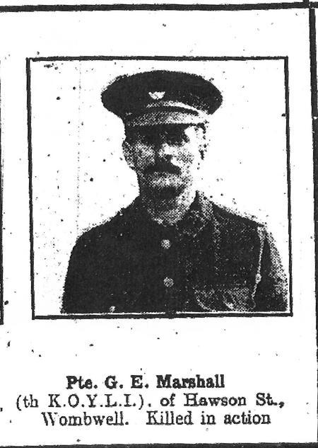J E Marshall -The South Yorkshire Times 19/2/1916