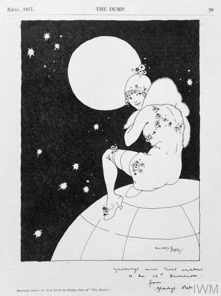 Propaganda illustration by Ernest's sister, Gladys
