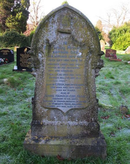 Grave in Salisbury, Wiltshire