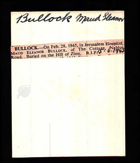 Maud Eleanor Bullock
