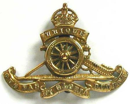 Royal Garrison Artillery cap badge