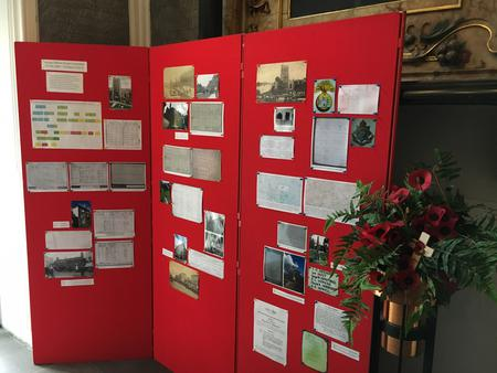 The display relating to Pte Honeyball in St Mary's