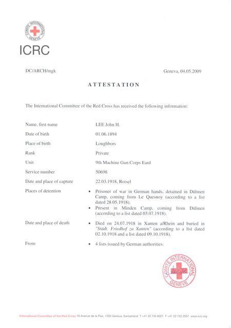 ICRC Attestation