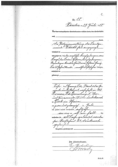 Burial Certificate