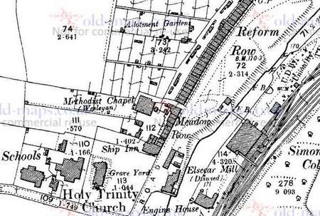 1903 map Reform Row, Elsecar