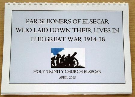 Elsecar WW1 Parishioners book cover