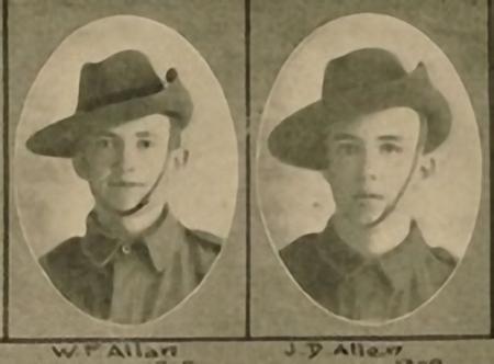 Allan Brothers in uniform