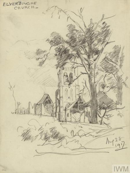 Elverdinghe Church, August 28 1917