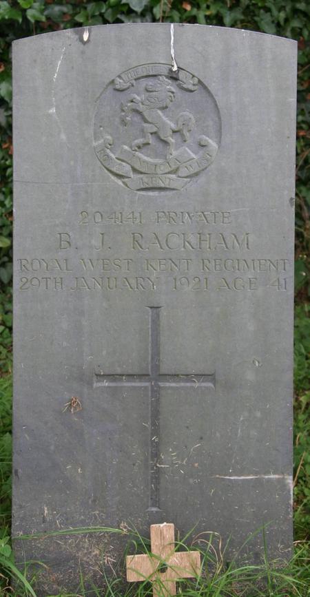 Profile picture for Benjamin J Rackham