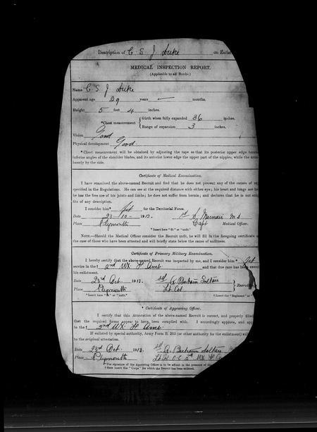 Service record 1913