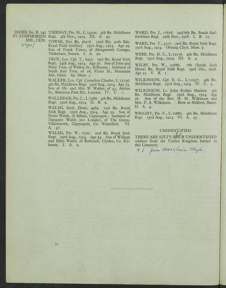 Grave Registration Document