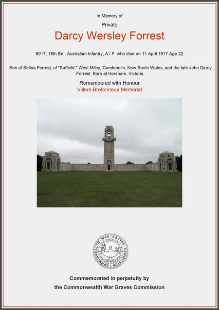 Villers-Bretonneux Memorial