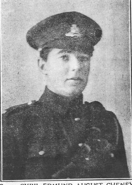Profile picture for Cyril Edmund August Cheney