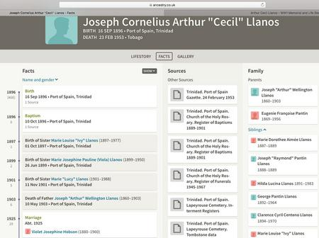 Ancestry page