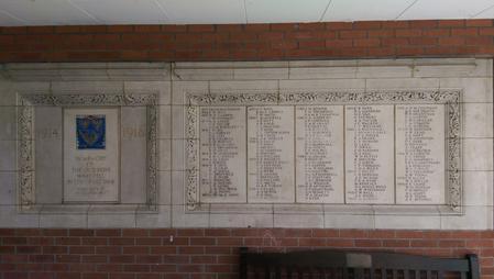 Bedford Modern School WW1 Memorial