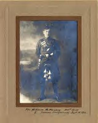 Private William Munn Menary in uniform