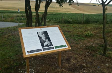 The Lochnagar Crater Panel to Harry Patch