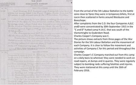 Concentration of 4 Coys, 5th Labour Battalion, R.E