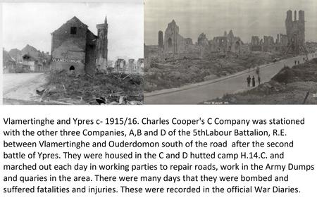 Images and text of Vlamertinghe and Ypres.