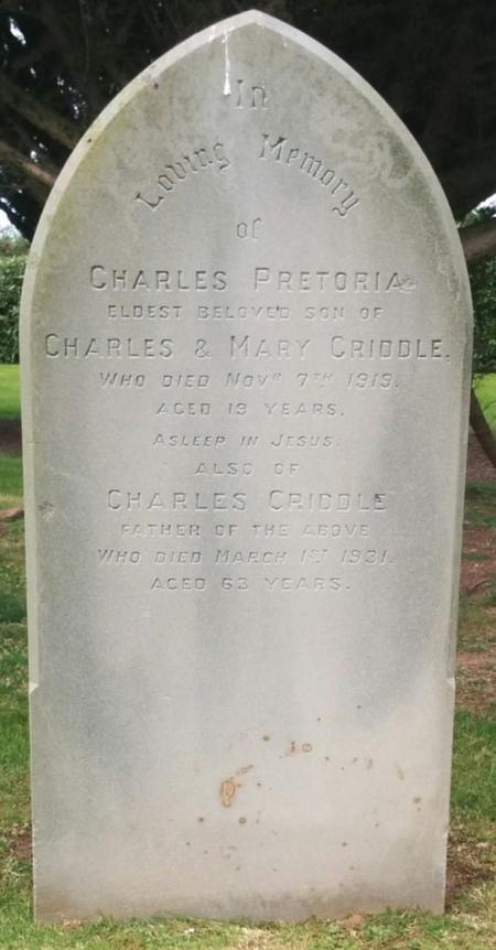 Profile picture for Charles Pretoria Criddle