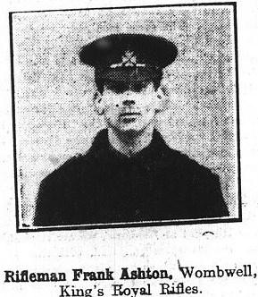 Frank Ashton - The South Yorkshire Times 1915