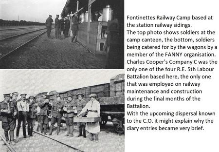 Photos at Fontinettes Railway Camp during WW1