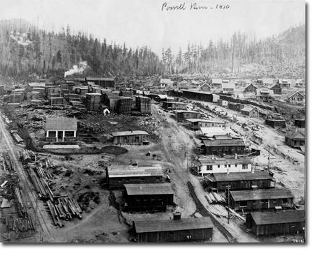 Powell River, British Columbia in 1910