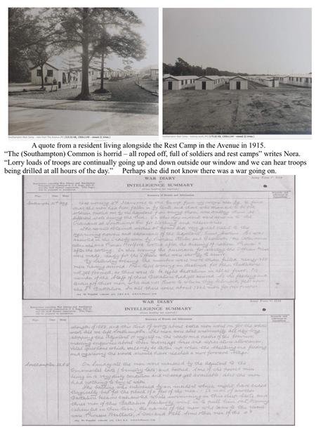 War Diary. Southampton Common Military Res. prt. 3