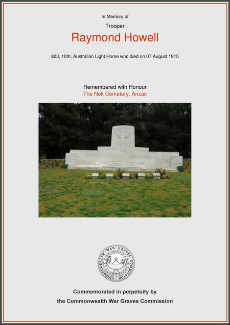 The Nek Cemetery, Gallipoli Peninsula