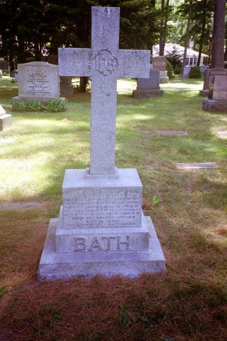 Edward Osler Bath's Headstone.