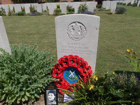 Joseph Wilson's headstone at the Arras Memorial