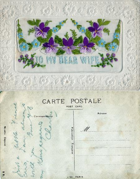 Postcard from Charles Cairns in France