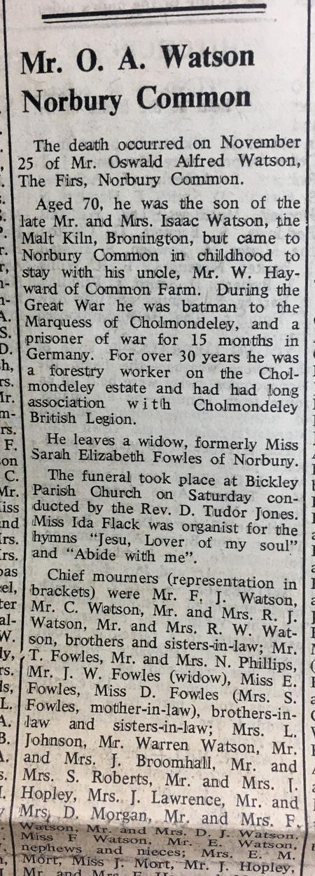 Oswald's Obituary