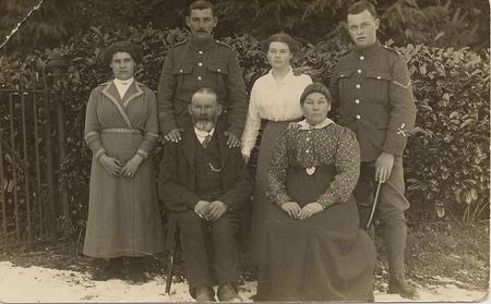 George & Adelaide Bevis with their family c.1917-1