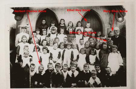 Crux Easton School Photo c. 1905